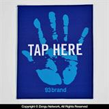 """Tap Here"" Gi Patch by 93 Brand"